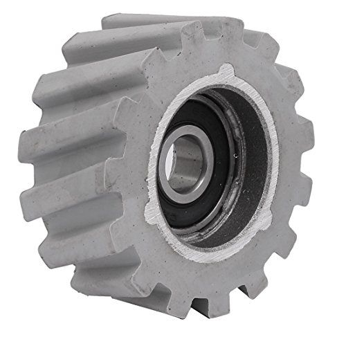 uxcell 65mmx12mmx28mm Rubber Coated Steel Pinch Roller Rolling Wheel Gray by uxcell