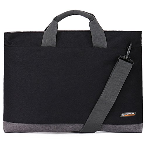 Laptop Shoulder Bag for 17 Inch Laptop Computer Awland Multi-functional Waterproof 17'' Macbook Carry Bag Briefcase Shoulder Big Bag Laptop Messenger Bag Notebook Sleeve Case Handbag - Black 17' Laptop Pc