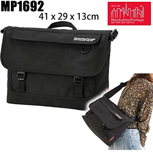 マンハッタンポーテージ リュック ショルダー メッセンジャー Manhattan Portage TWO BRIDGES Messenger Bag ブラック MP1692 ビジネス 【バックパックリュックサック】   B07PL9BMCH