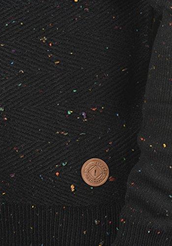 Algodón 9000 Punto Para Suéter Jersey Balduin Capucha De solid Hombre Sudadera Black Con 100 awqOpPnx
