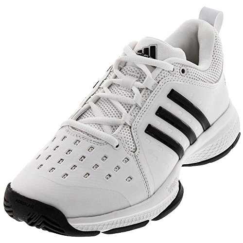 a51ea69c268e9 Adidas Mens Barricade Classic Bounce Tennis Shoes White Black