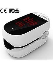 Oxímetro de Pulso y Monitor de Frecuencia Cardíaca con Pantalla OLED HD Pulsioxímetro, Oxímetro De Pinza De Dedo, Pulso Monitor de Oxigenación Sanguínea con Alarma Certificado por CE y FDA