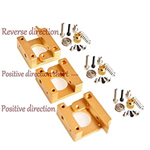 3d printer accessories mk8 extruder aluminum block diy kit dedicated single nozzle extrusion head aluminum block