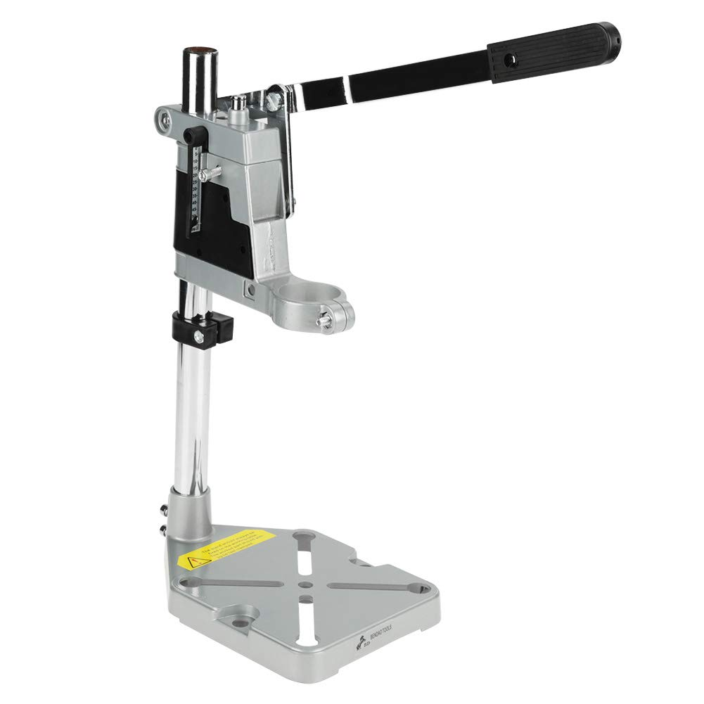Drill Bench Press Stand, Universal Bench Clamp Drill Press Stand Workbench Repair Tool for Drilling Aluminum Base(Double Hole)