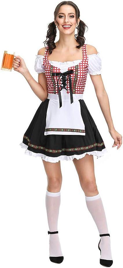 People-COS1 Disfraces De Mujer para El Mini Vestido Dirndl Alemán ...