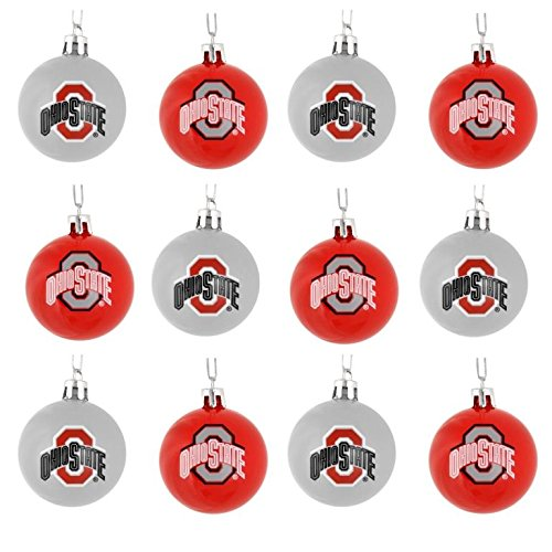 Ncaa Ornaments (NCAA Ball Ornament (Set of 12) NCAA Team: Ohio State)