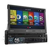 """Soundstream VRN-74HB 1-DIN GPS/DVD/CD/MP3/AM/FM Receiver with 7"""" LCD/Bluetooth/MobileLink X2, Black"""