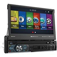 Soundstream VRN-74HB 1-DIN GPS/DVD/CD/MP3/AM/FM Receiver with 7 LCD/Bluetooth/MobileLink X2