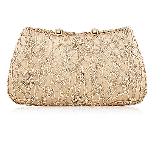 Womens Clasp Evening Diamond Damara Covered Sequin Nest Bag Black PgOUXdq
