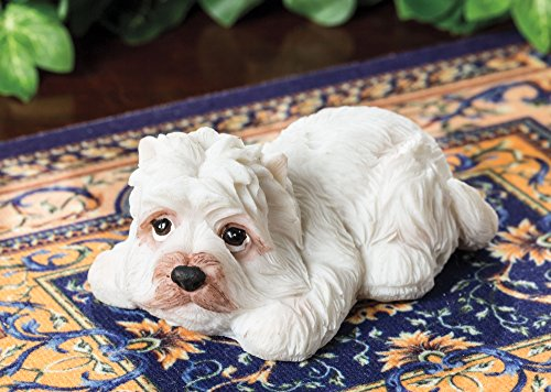 Dog Figurine - Miniature Collectible Westie Figurine Miniature West Highland White Terrier