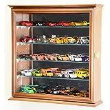 Mirrored back Hot Wheels / Matchbox / Diecast / Train Display Case Cabinet, Walnut
