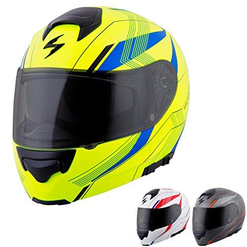 (ScorpionExo EXO-GT3000 Sync Full Face Modular Helmet (Grey/Orange, XX-Large))