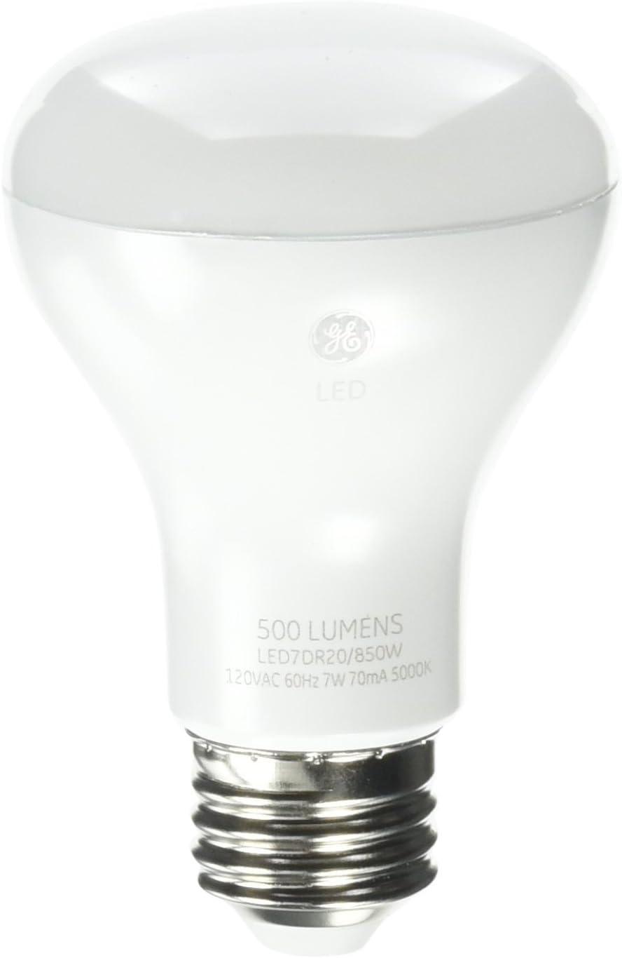 G E Lighting 34305 GE 7W White R20 LED Bulb
