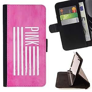- Queen Pattern FOR HTC One M7 /La identificaci????n del cr????dito ranuras para tarjetas tir????n de la caja Cartera de cuero cubie - pink America flag deep meaning use -