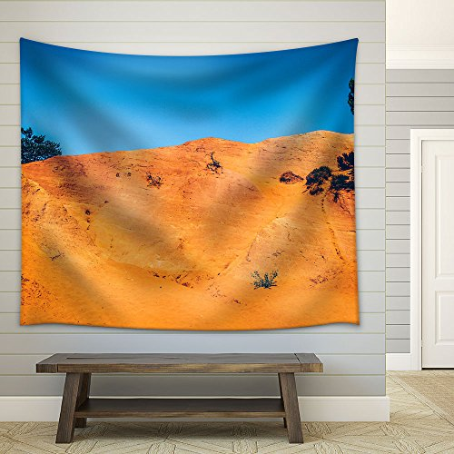 Wasteland with Trees in The Blue Sky Fabric Wall