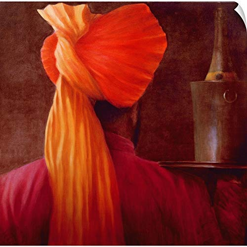 CANVAS ON DEMAND Lincoln Seligman Wall Peel Wall Art Print Entitled Wine Waiter at The Taj 10