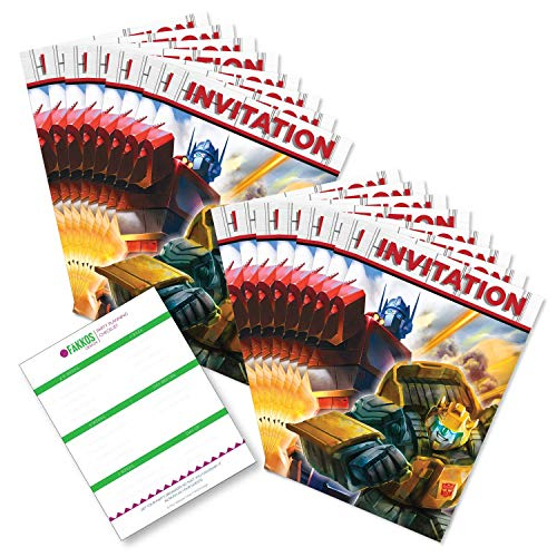 Transformer Party Invites (Transformers Birthday Invitations (16ct) by Party Tableware)