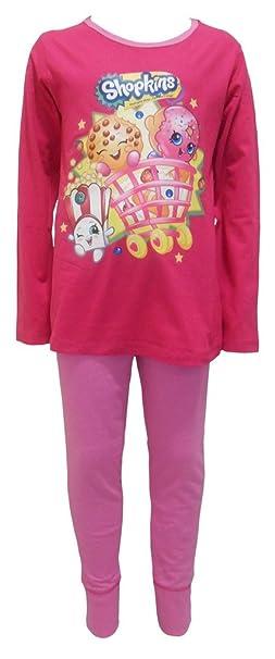 Shopkins - Pijama - para niña Rosa rosa
