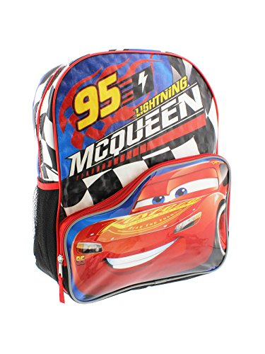 Price comparison product image Disney Pixar Cars 3 95 Lightning McQueen 16 inch Backpack with Side Mesh Pockets