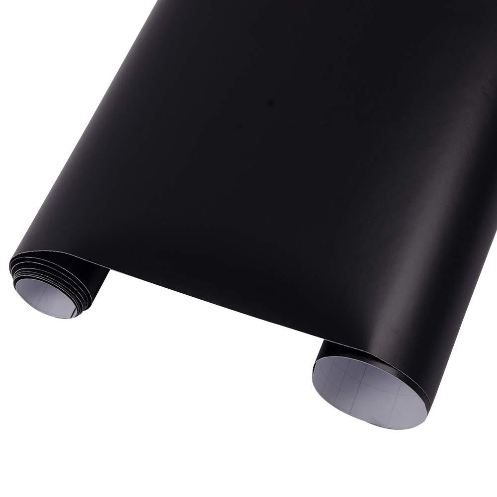 Hoho - Sticker en vinyle texturé noir mat sans bulles 152, 4x 30, 5cm 4x 30 5cm