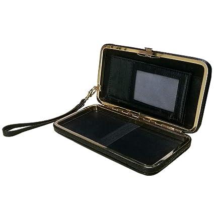 Aeeque Schleife Lady Mädchen Brieftasche,Groß Kapazität Damen Geldbörse,Handy Leder Phone Case Hülle mit Karte Halter Handsch