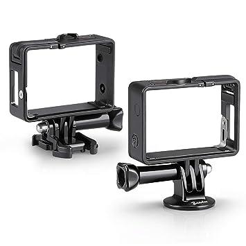 Zeadio marco Carcasa protectora con adaptador estándar para GoPro HD Hero4, Hero3 +, Hero3