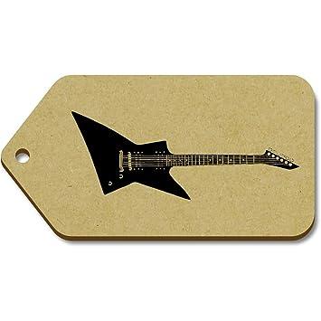 Azeeda 10 x Grande Guitarra Eléctrica 99mm x 51mm Regalo/Equipaje Etiquetas (