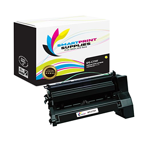 Smart Print Supplies C770 C780 Lexmark Premium Yellow C7702YK C780H2YG Compatible Toner Cartridge Replacement Also for C772 C782 X780 X782 Printers (10,000 (C782 Yellow Print Cartridge)