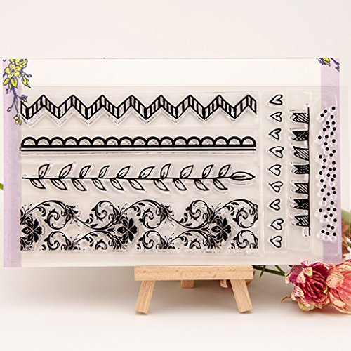 Seaskyer Flower Vine Clear Stamps Sheet Transparent Silicone Seal For DIY Scrapbooking Craft Card Photo Album Decorative, Christmas Valentine's Day Halloween Gift ()