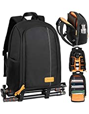 TARION Camera Backpack Waterproof Camera Bag Large Capacity Camera Case with 15 Inch Laptop Compartment Rain Cover for Women Men Photographer Lens Tripod