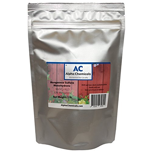 Monohydrate Sulfate - Manganese Sulfate Monohydrate - 32% Mn - 1 Pound