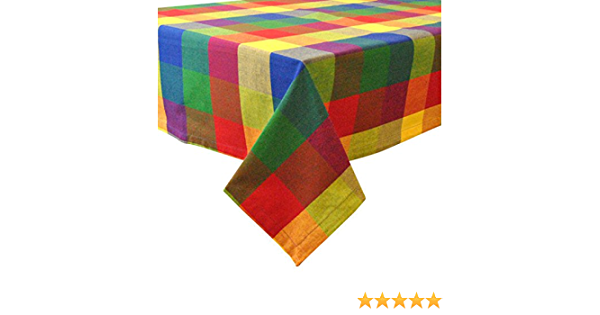 Design Imports DII Indian Summer Check Tablecloth