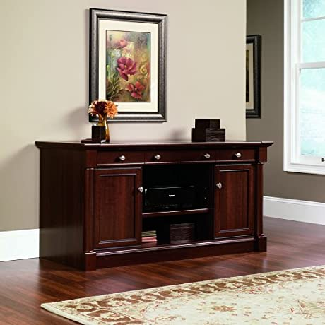 Sauder Palladia Credenza Select Cherry Finish