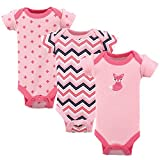 Luvable Friends Baby Preemie Bodysuit, 3 Pack, Foxy