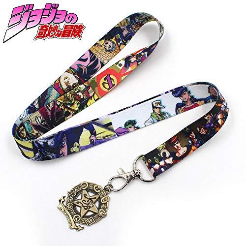 Momoso_Store 05 Styles Hot Anime Jojo Bizzare Adventure Kujo Jotaro Phone Rope Strap Keychain Cords Lariat Clip Lanyards Costume Accossory