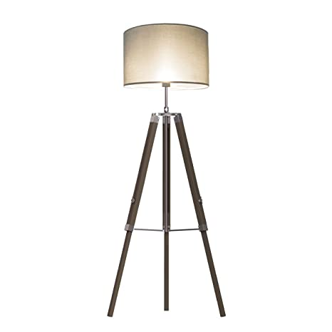 7d3a63db5ec7 Image Unavailable. Image not available for. Color: Wood Tripod Floor Lamp  Tomons ...