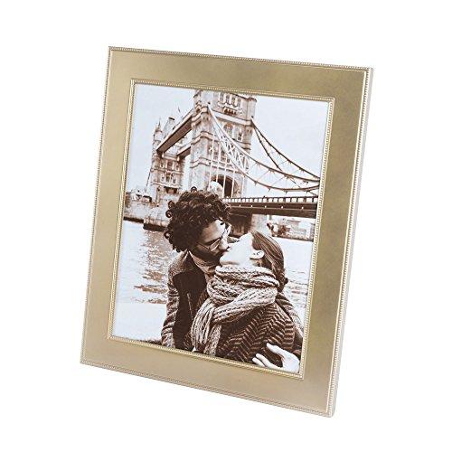 Elegance Matte Finish Beaded Design Picture Frame, 8X10, Gold (Beaded Matte)