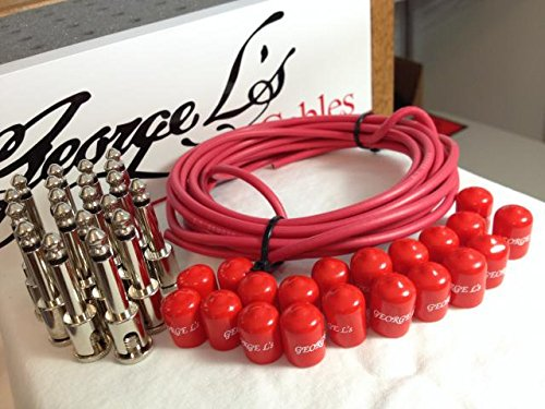 George L's 155 Pedalboard Effects Cable Kit XL .155 Red / Nickel - 20/20/20 by George L's