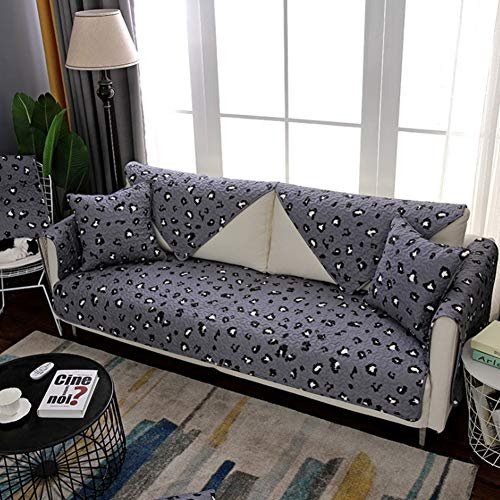 ZMYLOVE Speckle Pattern Sofa Cover,Sofa Protectors Cotton Fabric Non-Slip 3 Seater sofaCovers Four Seasons Universal Modern Sewing Process Sofa Protectors from Pets,C,width70150cmlong