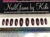 Blackberry Hand Designed Press On Nails