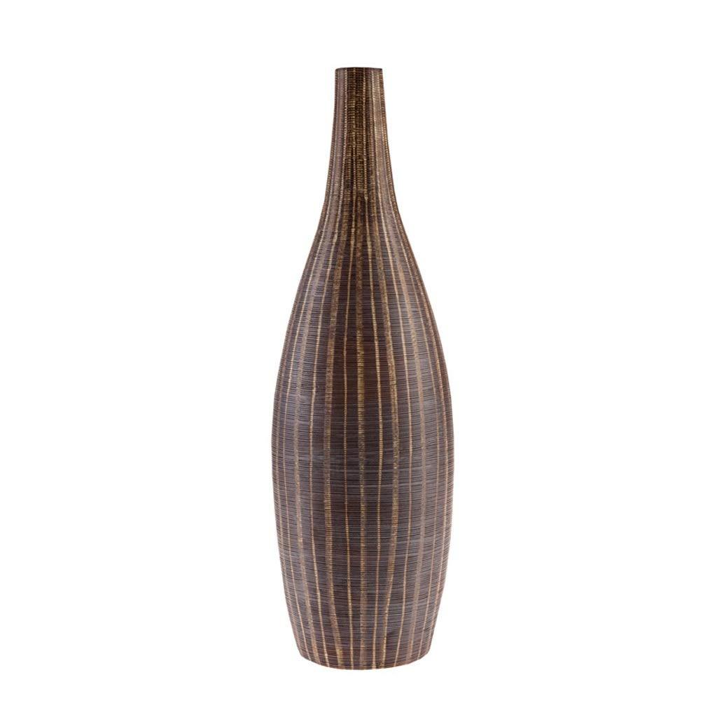 花瓶手作りセラミック刻印花瓶ネック花瓶リビングルームダイニングルームの装飾 LQX (Size : L) B07SHDS1BJ  Large