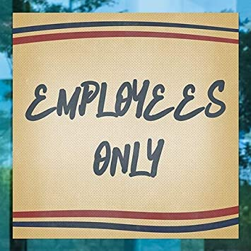 CGSignLab 5-Pack Employees Only Nostalgia Stripes Perforated Window Decal 24x24