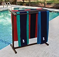 Pool Towel Rack Ideas poolside towel tree from pvc pipe and a 7 plastic umbrella Outdoor