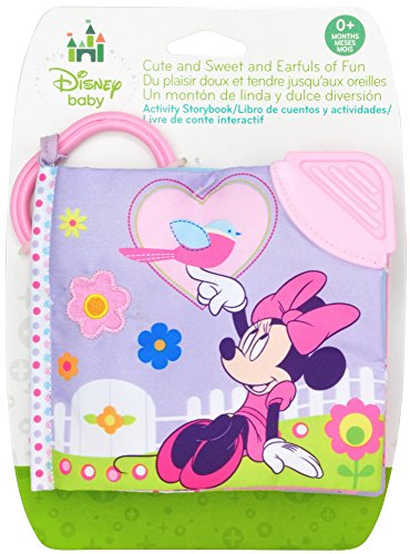 Disney Baby Minnie Mouse On the Go Soft Teether Book, (Soft Book Plush Baby Toy)