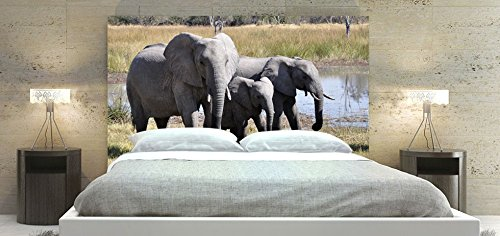 Elephant-55, Animal Picture Headboard, Square Shape, Available in Sizes (King: 78 x 36 inch) by ZoZulu