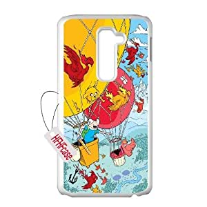 HFHFcase DIY Case for LG G2, Jake and Finn Adventure Time LG G2 Plastic Case