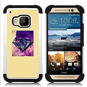 For HTC ONE M9 - yellow diamond purple poster gem Dual Layer caso de Shell HUELGA Impacto pata de cabra con im????genes gr????ficas Steam - Funny Shop -
