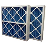 US Home Filter SC40-16X25X4 MERV 8 Pleated Air Filter (Pack of 3), 16'' x 25'' x 4''