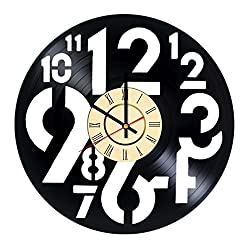 Wall clocks large decorative vinyl clock - great unique gift idea for friends, boyfriend, girlfriend, colleagues parents and children. - customize your clock