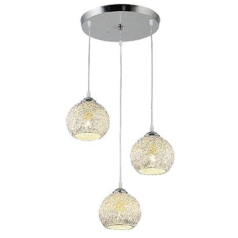 Modern iluminación de techo de 3 luces plata semiesfera ...